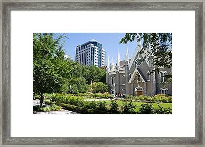 Assembly Hall In A City, Salt Lake Framed Print by Panoramic Images