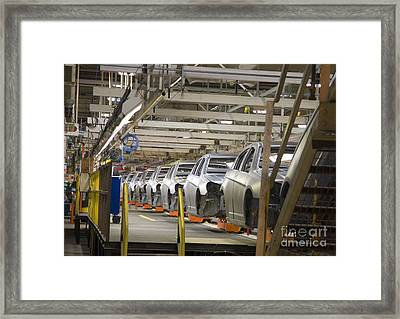 Assembly Line Framed Print