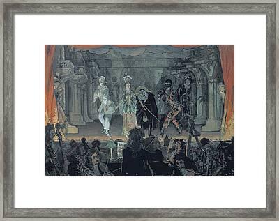 Assembly Of Free Masons Framed Print