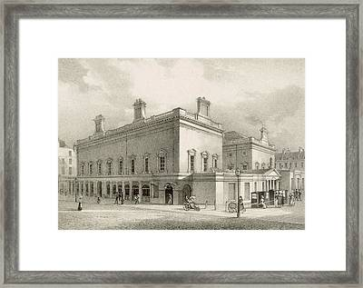 Assembly Rooms, Bath, Circa 1883 Framed Print by R Woodroffe