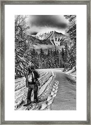 Assessing The Route Framed Print by Aaron Aldrich