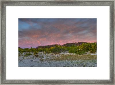 Asseteague Island Dune Sunrise Framed Print