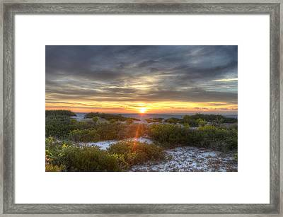 Asseteague Sunrise Framed Print