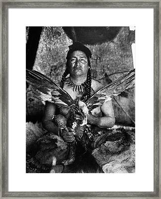 Assiniboin And Eagle, 1926 Framed Print by Granger