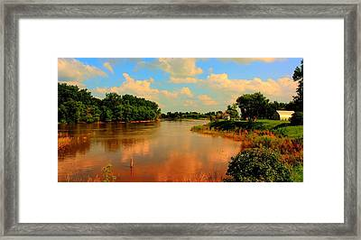 Assiniboine River Hdr Framed Print
