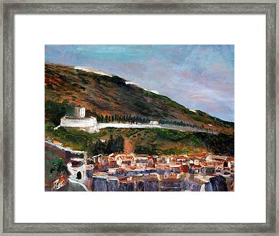 Assisi Hillside Framed Print