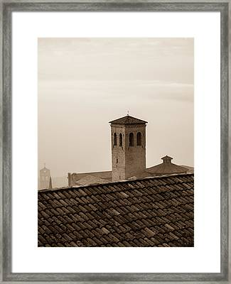 Assisi Rooftop In Morning Framed Print by Rande Cady
