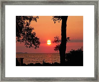 Association Island Sunset Framed Print by Aimee L Maher Photography and Art Visit ALMGallerydotcom