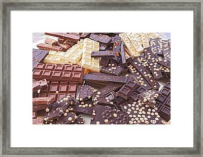 Assorted Chocolate Bars Framed Print by Ermess Images