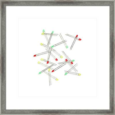 Assorted Leds Framed Print by Science Photo Library