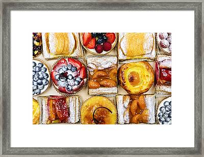 Assorted Tarts And Pastries Framed Print by Elena Elisseeva