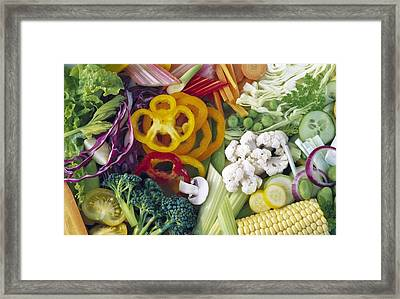 Assorted Vegetables Framed Print by Science Photo Library