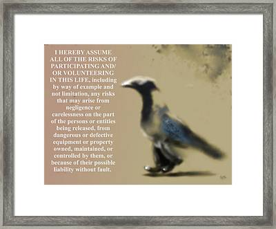 Assuming Corvus Framed Print