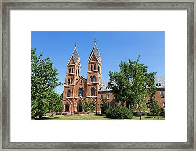 Assumption Abbey In Richardton, North Framed Print by Chuck Haney