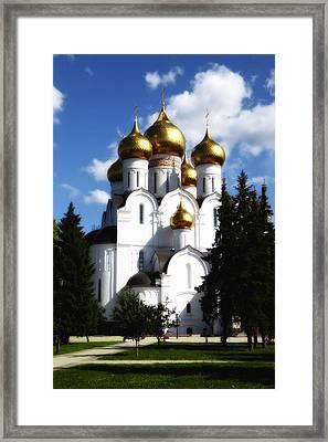 Assumption Cathedral Yaroslavl Russia Framed Print by Linda Dunn