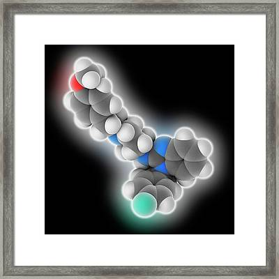 Astemizole Drug Molecule Framed Print