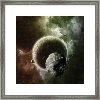 Asteroid Framed Print by Andrzej Siejenski