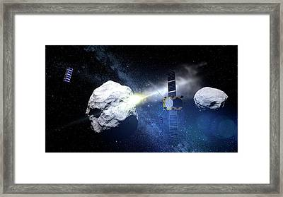 Asteroid Impact Mission Framed Print by European Space Agency/scienceoffice.org