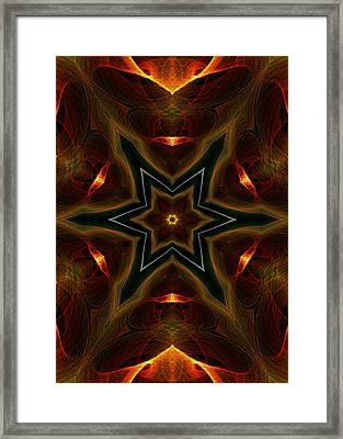 Asteroid Impact Framed Print