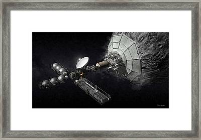 Asteroid Mining And Processing Framed Print by Bryan Versteeg