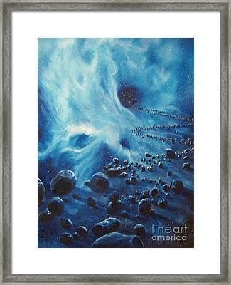 Asteroid River Framed Print by Murphy Elliott