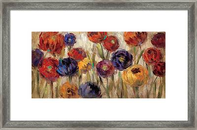 Asters And Mums Framed Print