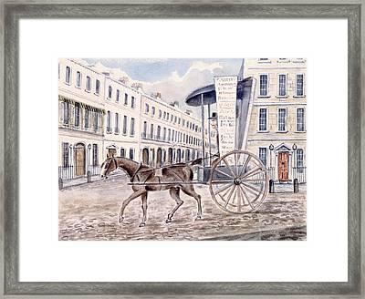 Astleys Advertising Cart Wc On Paper Framed Print