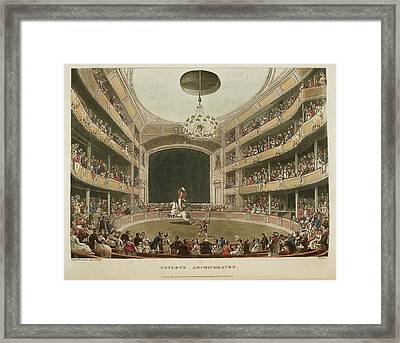 Astley's Amphitheatre Framed Print