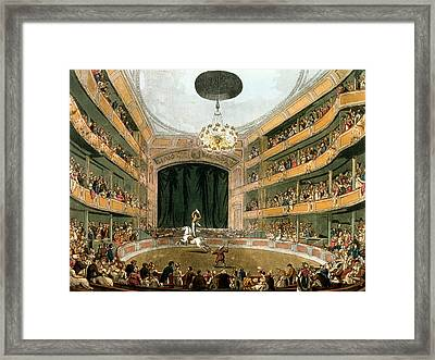 Astleys Ampitheatre, From Ackermanns Framed Print by T. & Pugin, A.C. Rowlandson