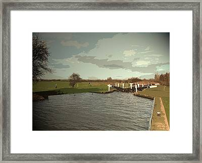 Aston Lock On The Trent And Mersey Canal,  Aston Lock Framed Print by Litz Collection
