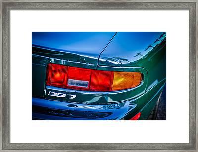 Aston Martin Db 7 Taillight Emblem -0042c Framed Print by Jill Reger