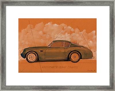 Aston Martin Db4 Gt Zagato Framed Print