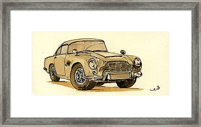 Aston Martin Db5 Framed Print by Juan  Bosco
