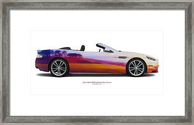 Aston Martin Dbs Volante Nairn Sunset Framed Print by Jan W Faul
