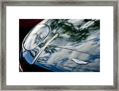 Aston Martin Hood Emblem 4 Framed Print by Jill Reger