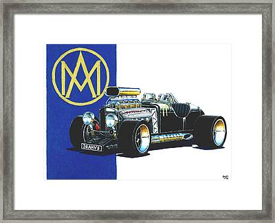 Aston Martin Hot Rod Framed Print