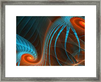 Astonished-fractal Art Framed Print by Lourry Legarde