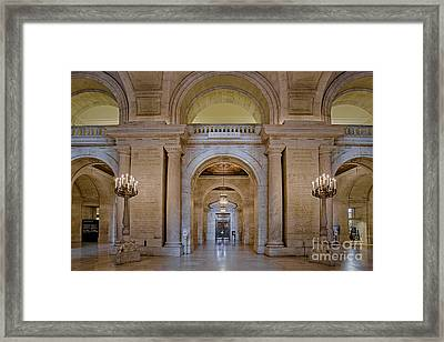 Astor Hall At The New York Public Library Framed Print by Susan Candelario