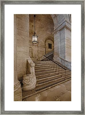 Astor Hall Nypl Framed Print by Susan Candelario