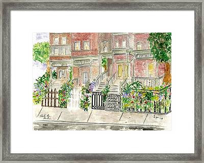 Astor Row In Harlem Framed Print
