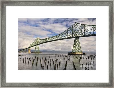 Astoria Bridge Framed Print by Mark Kiver