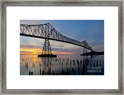 Astoria Bridge Sunset Framed Print