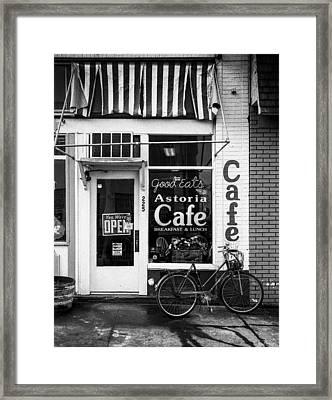 Astoria Cafe Framed Print