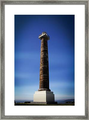 Ocean Framed Print featuring the photograph Astoria Column 1926 by Aaron Berg