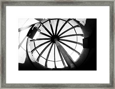 Framed Print featuring the photograph Astoria Column Dome by Aaron Berg