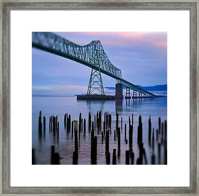 Astoria Sunrise Framed Print by Darren  White