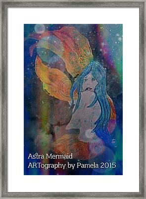 Astral Mermaid Framed Print
