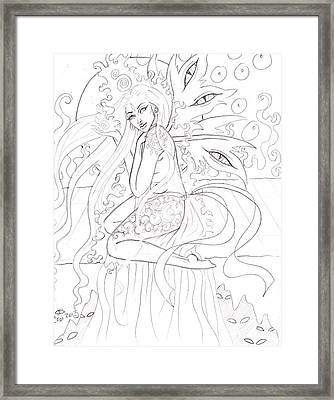 Astral Perch Framed Print by Coriander  Shea