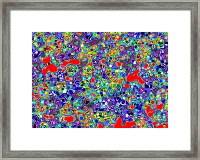 Framed Print featuring the digital art Astratto - Abstract 22 by Ze  Di