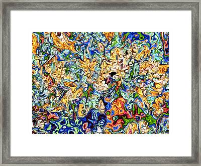 Framed Print featuring the digital art Astratto - Abstract 23 by Ze  Di